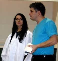 A WEI baptism in Albania
