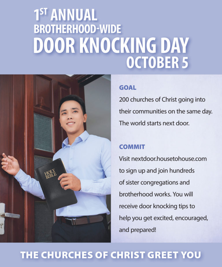 Ministries encourage First Annual Brotherhood-Wide Door-Knocking Day